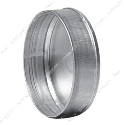 Заглушка оцинкованная d 130 толщина металла 0.45 мм