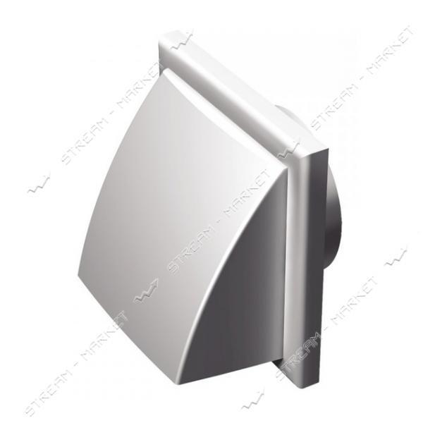 VENTS Решетка вентиляционная пластик МВ 102 ВК (флянец с клапаном) коричневая