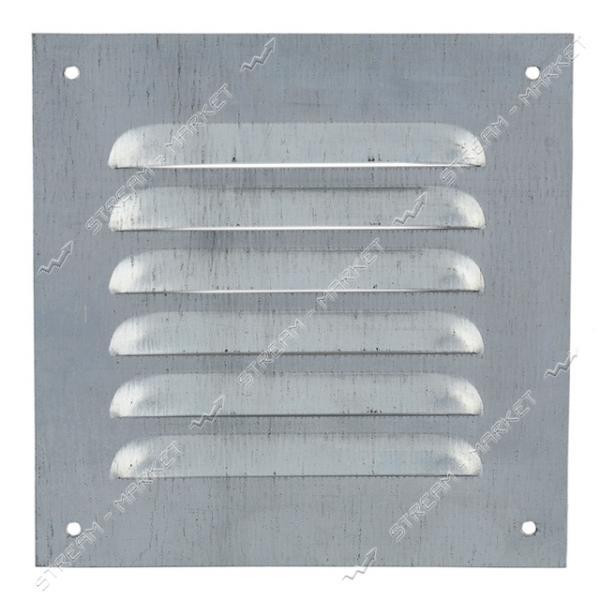 Решетка вентиляционная металическая 205х205 Оцинкованая