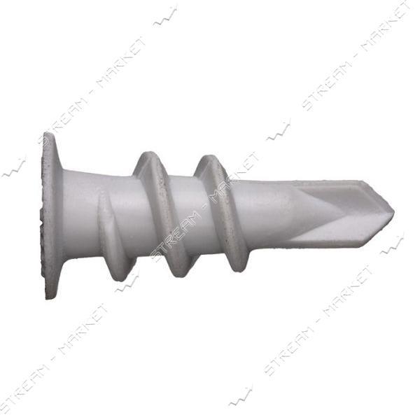 Дюбель для гипсокартона с буром (дрива) пластиковый 100шт