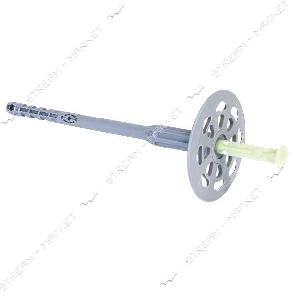 Дюбель для теплоизоляции с пластиковым гвоздем 10х140 серый 100шт