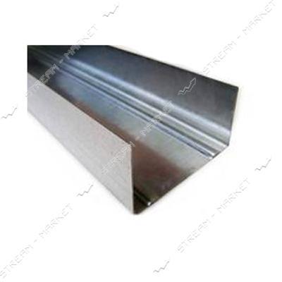 Профиль для гипсокартона направляющий UW100 3м 0.40мм