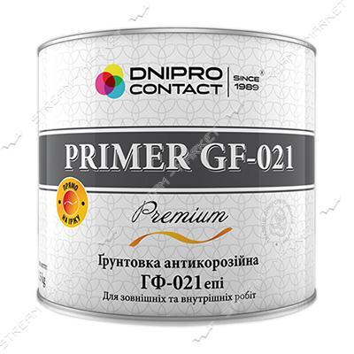 Грунтовка алкидная ГФ-021 Днепр-Контакт 0.9л черная