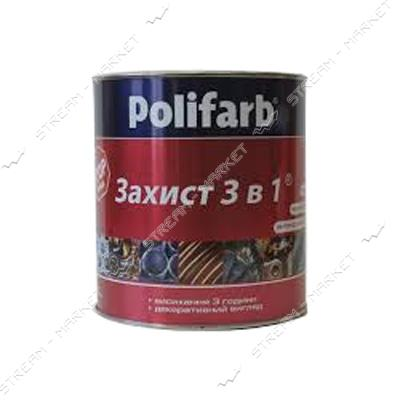 Эмаль Polifarb RAL7035 Защита 3в1 2.7л светло-серый