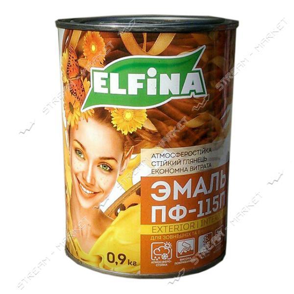 Эмаль алкидная ПФ-115 Elfina 0.9л салатовая