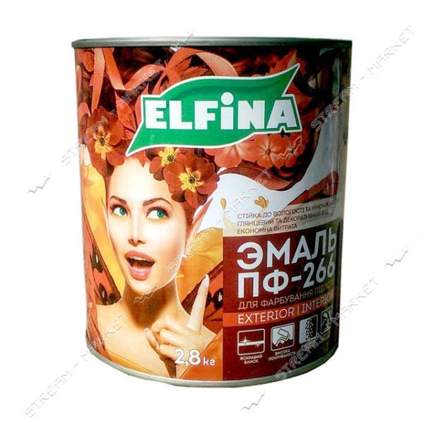 Эмаль алкидная ПФ-266 Elfina 0.9л красно-коричневая