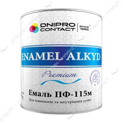Краска алкидная ПФ-115 Днепр-Контакт 0.9л белая матовая