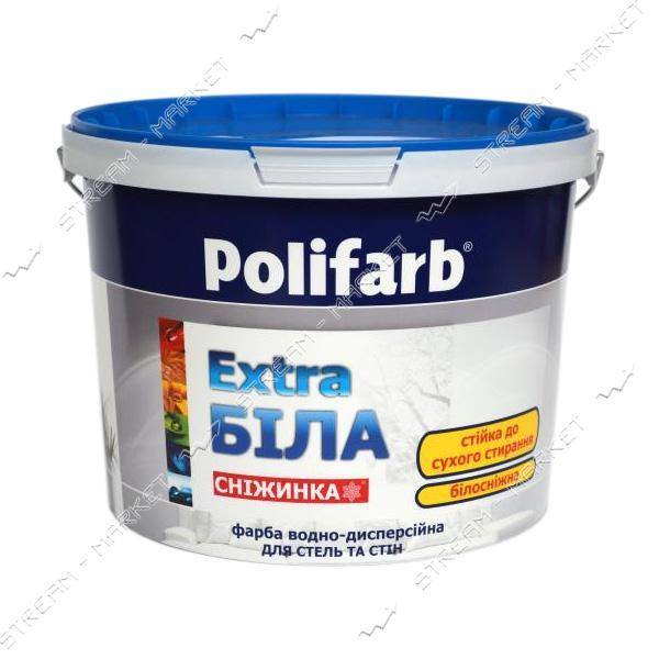 Краска водоэмульсионная Polifarb 'Снежинка' Интерьерная 3.8кг