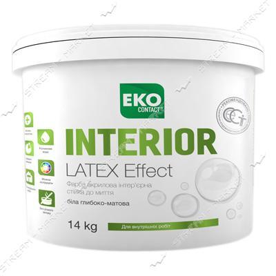 Краска водоэмульсионная Днепр-Контакт EKO Contakt Latex Effect INTERIOR 1.4кг
