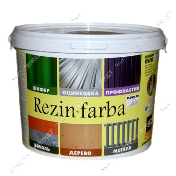 Краска резиновая ISPOLIN Rezin-farba 3л белая