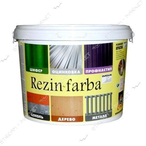 Краска резиновая ISPOLIN Rezin-farba 5л белая