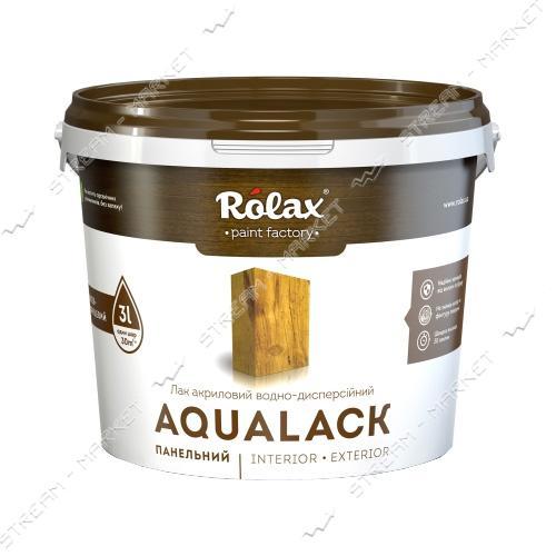 Лак панельный акриловый водно-дисперсионный 'Ролакс' AQUALACK 1.4л
