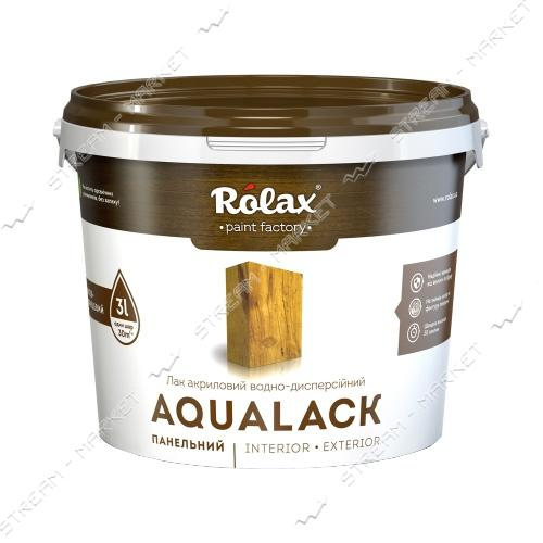 Лак панельный акриловый водно-дисперсионный 'Ролакс' AQUALACK 3л