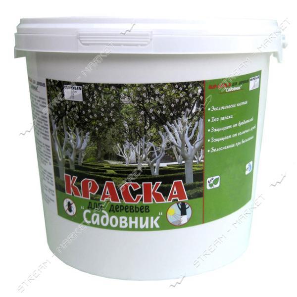 Краска акриловая для деревьев Ispolin Садовник белая 1л