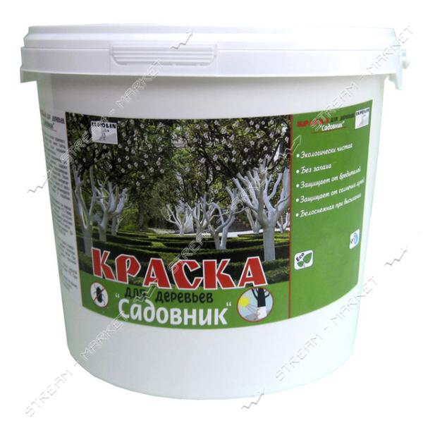 Краска акриловая для деревьев Ispolin Садовник белая 2л
