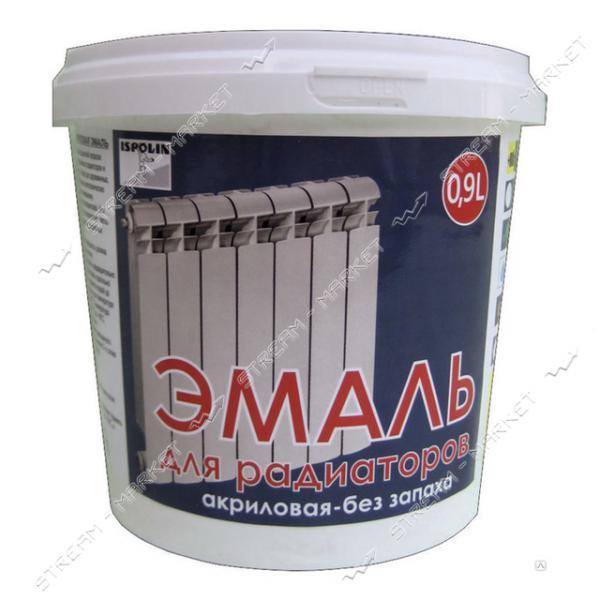 Эмаль Ispolin для радиаторов отопления белая 0.45л