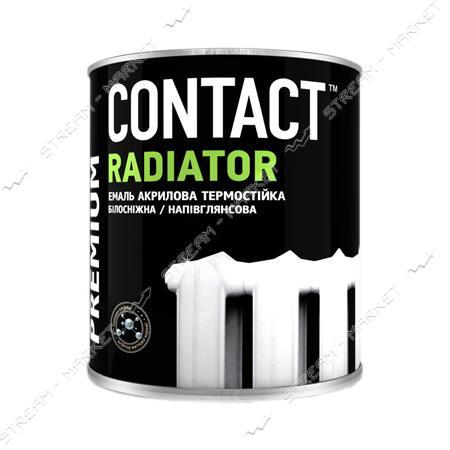 Эмаль акриловая для радиаторов отопления Днепр-Контакт 0.75кг белая