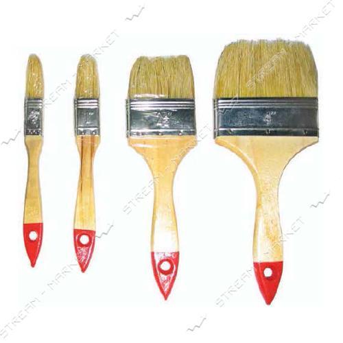 Кисть флейцева плоская Hand-Tools OPTIMA деревянная ручка 3'