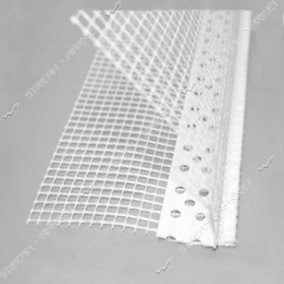 Угол пластиковый перфорированый с сеткой 3м