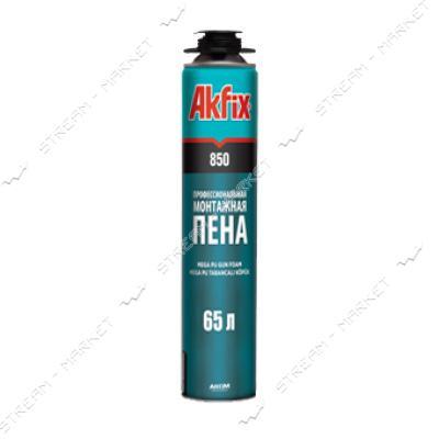 Пена монтажная AKFIX MEGA 850 летняя профессиональная 750 мл