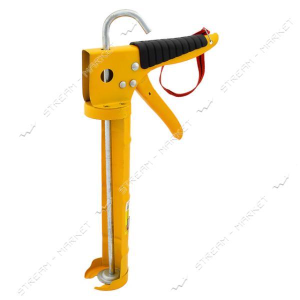 Пистолет для выдавливания силикона H-TOOLS 21В023, обрезиненная рукоятка