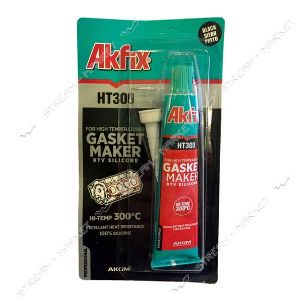 Силикон термостойкий AKFIX HT300 черный 50 мл тюбик