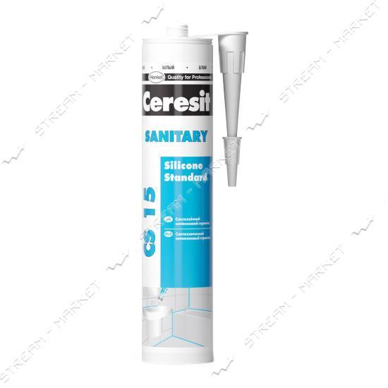 Герметик санитарный силиконовый Ceresit Sanitary CS15WH белый 280мл