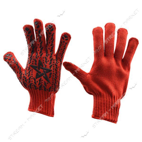 Перчатки рабочие DOLONI арт.4040 Звезда красные