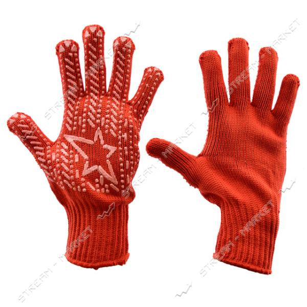 Перчатки рабочие Алиско Звезда красные