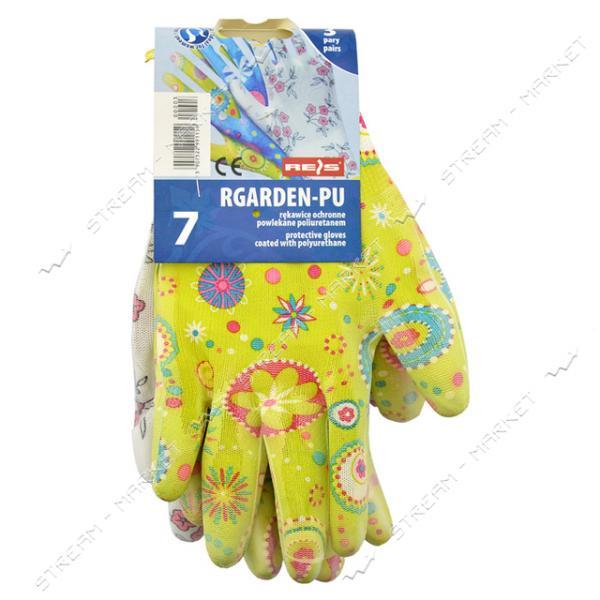 Перчатки RGARDEN-PU цветок залитый полиэстер размер 7