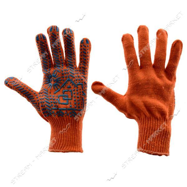 Перчатки рабочие Домик трикотажные черные арт.152