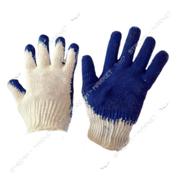 Перчатки рабочие Вампирки х/б с резиновым покрытием