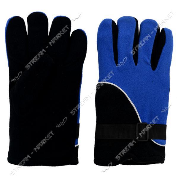 Перчатки флис люкс двойные теплые ассорти