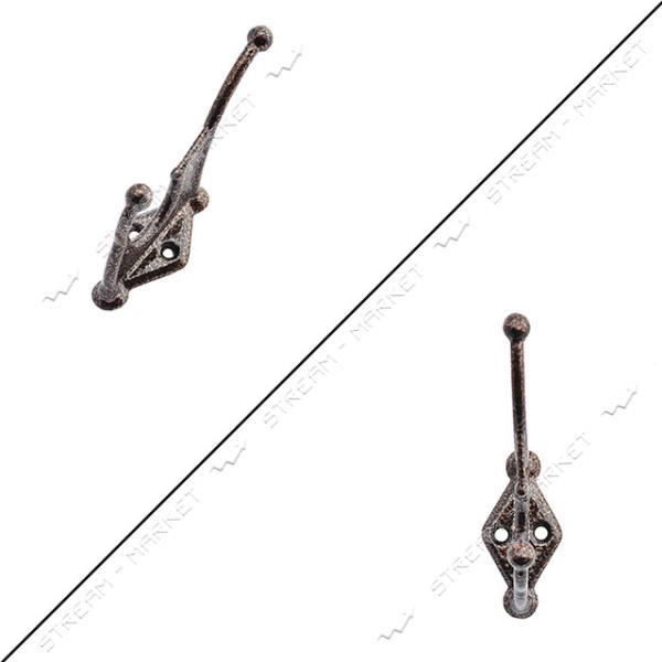 Крючок алюминиевый крашенный коричневый
