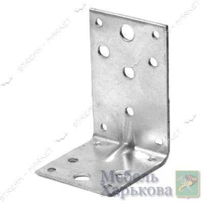Уголок крепежный 90х55х55х2мм - Мебельные стяжки и уголки в Харькове