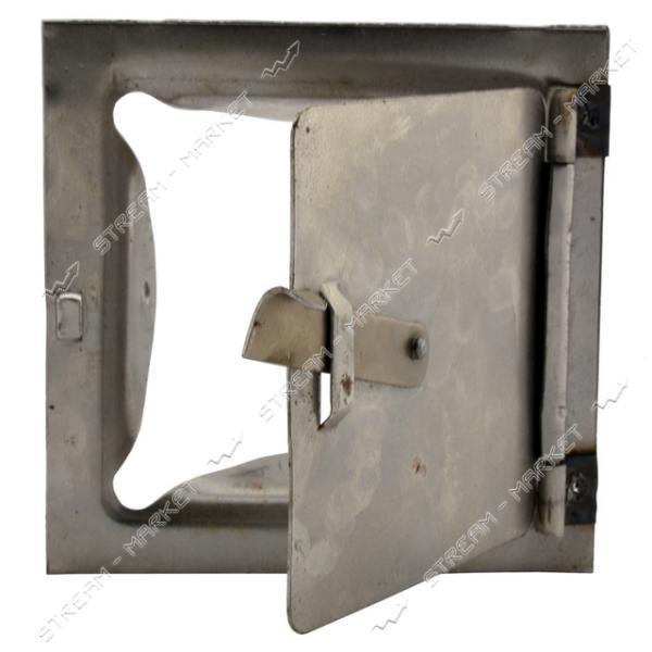 Сажетруска стальная на петлях усиленная 120х120мм