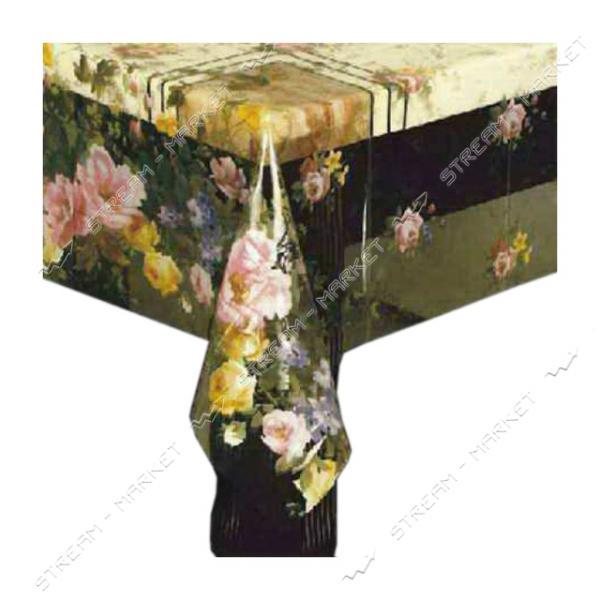 Клеенка для стола силикон Любава Р-080 1.4х30м Китай