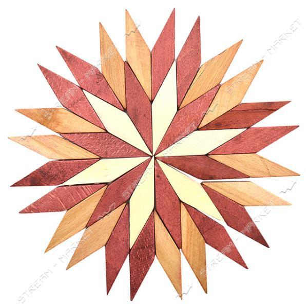 Подставка под горячее деревянная Звездочка d22см