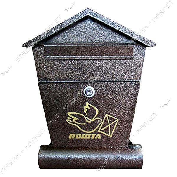 Почтовый ящик Домик сверток 38х28х6 см коричневый