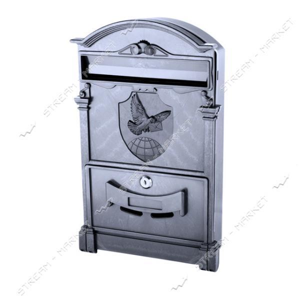 Почтовый ящик пластик цвет черный герб голубь PO-0020