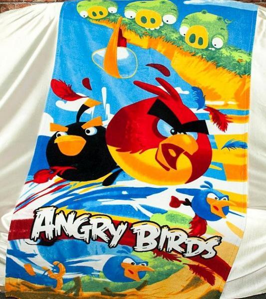Полотенце пляжное Angry Birds