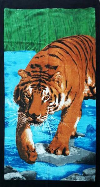 Фото ПОЛОТЕНЦА, Пляжные полотенца Полотенце пляжное Тигр