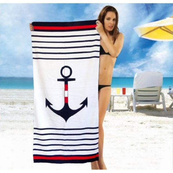 Фото ПОЛОТЕНЦА, Пляжные полотенца Полотенце пляжное Якорь