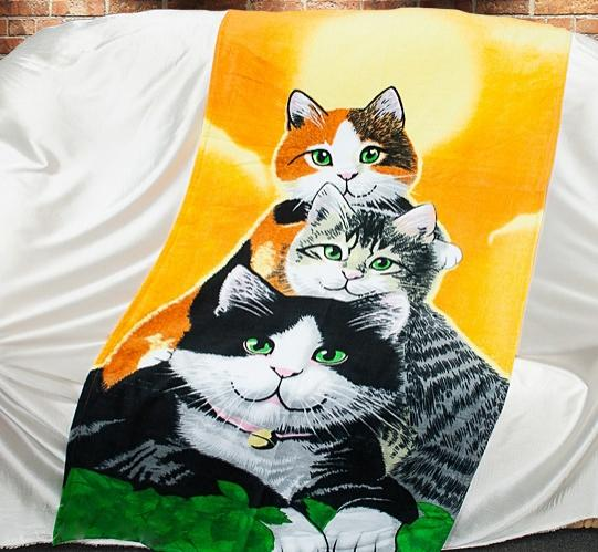 Полотенце пляжное Cats