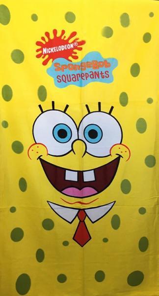 Фото ПОЛОТЕНЦА, Пляжные полотенца Полотенце пляжное Sponge Bob