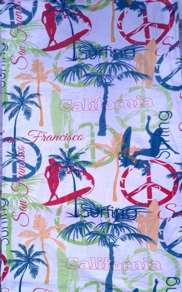 Фото ПОЛОТЕНЦА, Пляжные полотенца Полотенце пляжное California