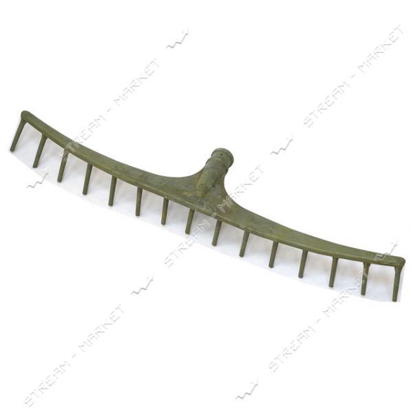 Грабли пластмассовые большие 15 зубов длина 74 см (кратно 10 шт)