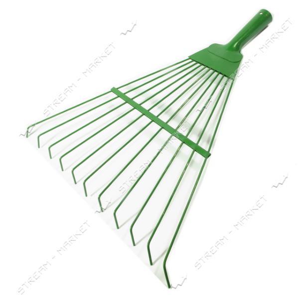 Грабли веер зеленая краска без ручки Украина