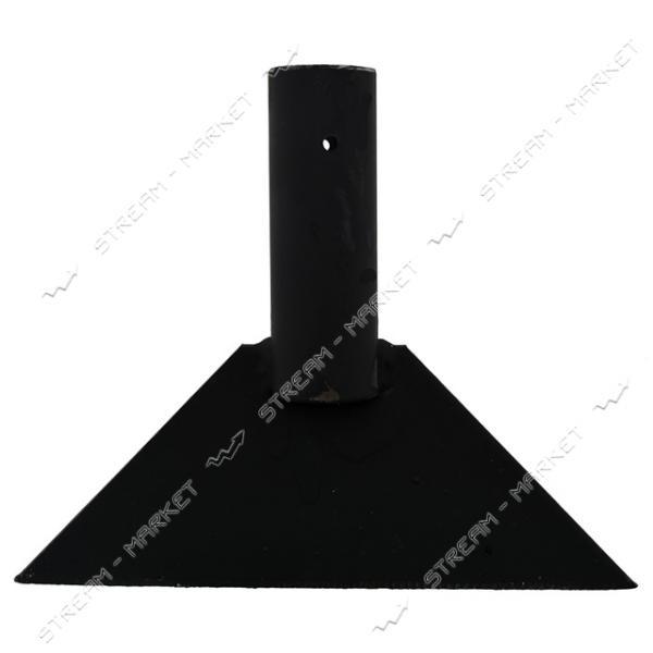 Ледоруб усиленный стальной 200 мм без черенка толщ. метала 5 мм. ( под черенок д. 40 мм.)