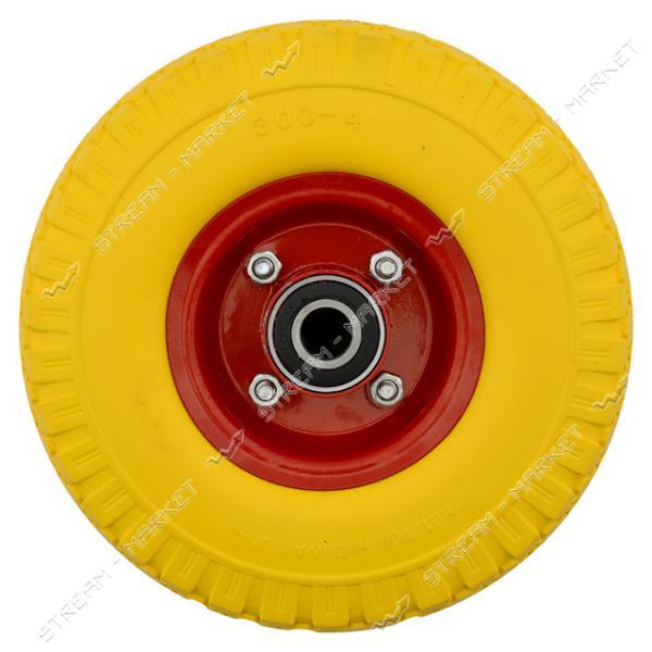 Колеcо на тачку 3.00-4 пена (ширина резины 2, 75 дюйма, диск d5 внутр. d20)